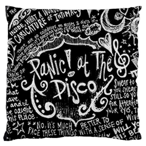 Panic ! At The Disco Lyric Quotes Large Cushion Case (Two Sides)