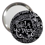 Panic ! At The Disco Lyric Quotes 3  Handbag Mirrors Front
