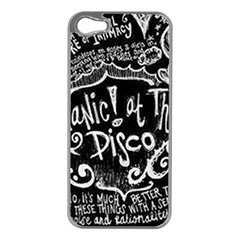 Panic ! At The Disco Lyric Quotes Apple Iphone 5 Case (silver)