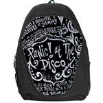 Panic ! At The Disco Lyric Quotes Backpack Bag Front