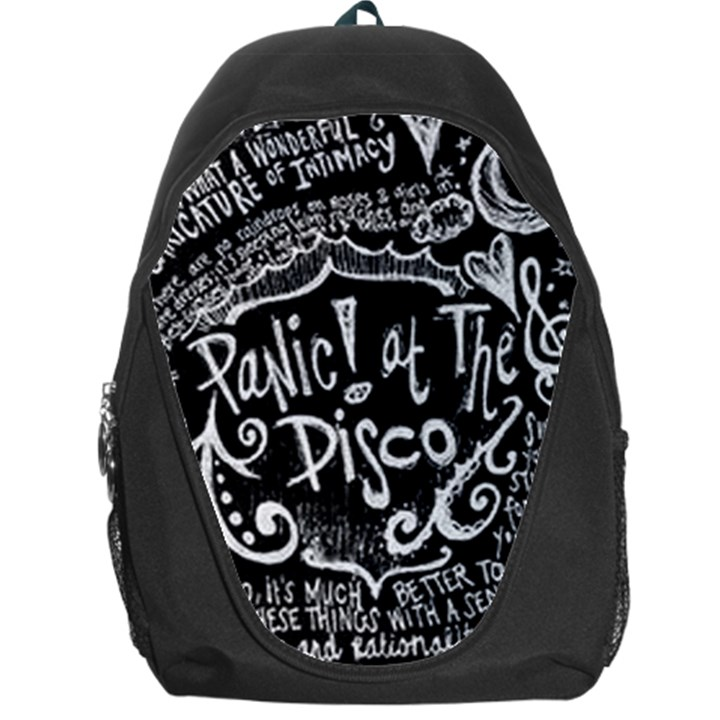 Panic ! At The Disco Lyric Quotes Backpack Bag