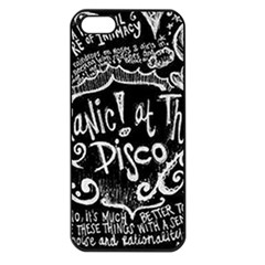 Panic ! At The Disco Lyric Quotes Apple Iphone 5 Seamless Case (black)