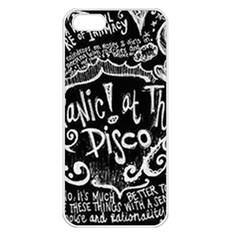 Panic ! At The Disco Lyric Quotes Apple iPhone 5 Seamless Case (White)