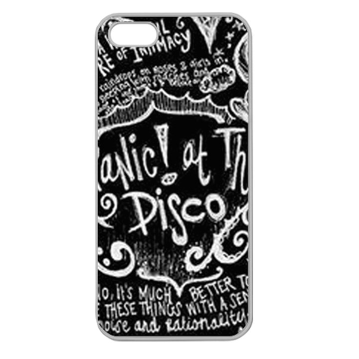 Panic ! At The Disco Lyric Quotes Apple Seamless iPhone 5 Case (Clear)