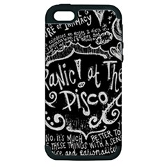 Panic ! At The Disco Lyric Quotes Apple iPhone 5 Hardshell Case (PC+Silicone)