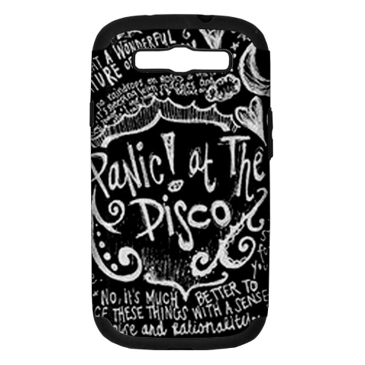 Panic ! At The Disco Lyric Quotes Samsung Galaxy S III Hardshell Case (PC+Silicone)