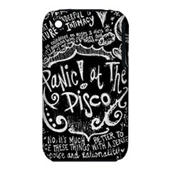 Panic ! At The Disco Lyric Quotes Apple iPhone 3G/3GS Hardshell Case (PC+Silicone)