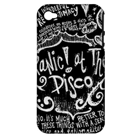 Panic ! At The Disco Lyric Quotes Apple iPhone 4/4S Hardshell Case (PC+Silicone)