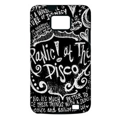 Panic ! At The Disco Lyric Quotes Samsung Galaxy S II i9100 Hardshell Case (PC+Silicone)