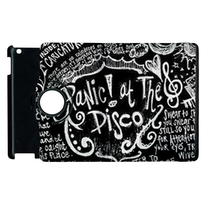 Panic ! At The Disco Lyric Quotes Apple iPad 3/4 Flip 360 Case