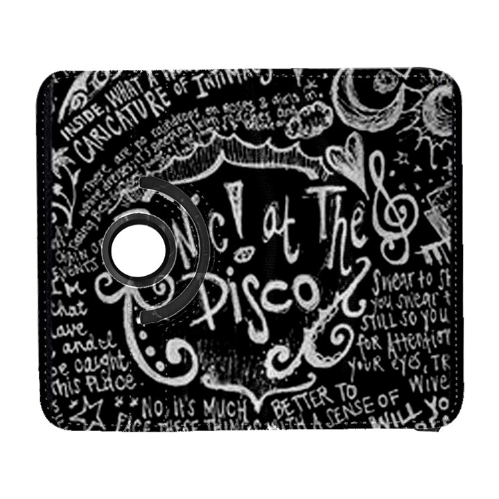 Panic ! At The Disco Lyric Quotes Samsung Galaxy S  III Flip 360 Case