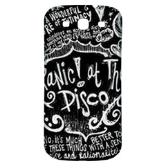 Panic ! At The Disco Lyric Quotes Samsung Galaxy S3 S III Classic Hardshell Back Case