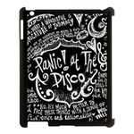 Panic ! At The Disco Lyric Quotes Apple iPad 3/4 Case (Black) Front