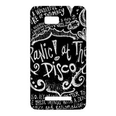 Panic ! At The Disco Lyric Quotes HTC One SU T528W Hardshell Case