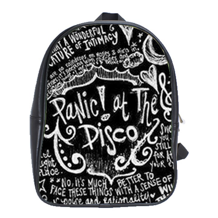 Panic ! At The Disco Lyric Quotes School Bags (XL)