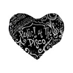 Panic ! At The Disco Lyric Quotes Standard 16  Premium Heart Shape Cushions Front