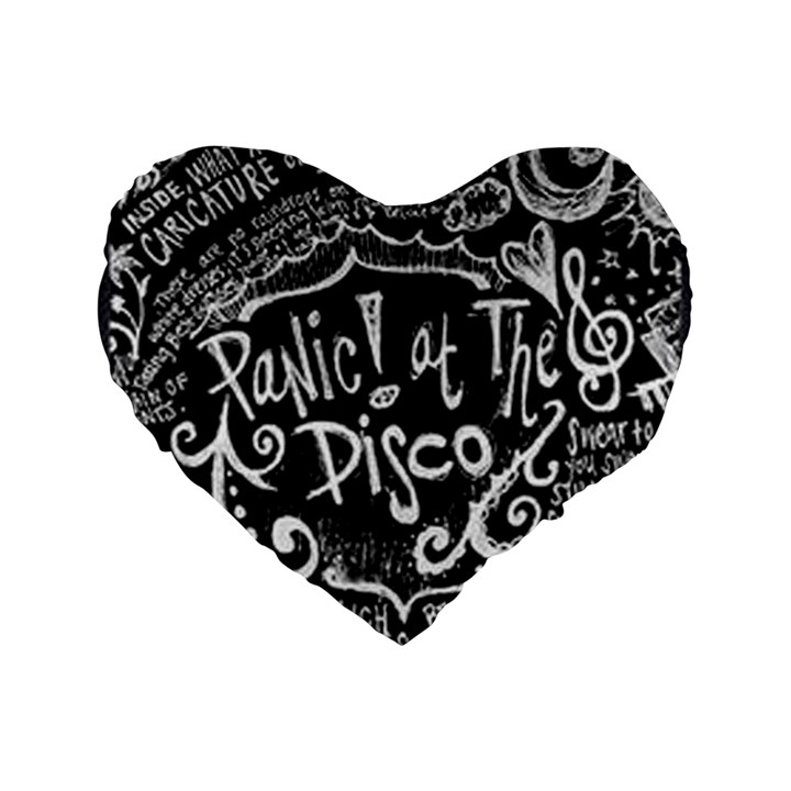 Panic ! At The Disco Lyric Quotes Standard 16  Premium Heart Shape Cushions