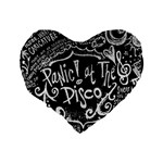Panic ! At The Disco Lyric Quotes Standard 16  Premium Heart Shape Cushions Back