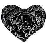 Panic ! At The Disco Lyric Quotes Large 19  Premium Heart Shape Cushions Front