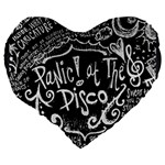 Panic ! At The Disco Lyric Quotes Large 19  Premium Heart Shape Cushions Back