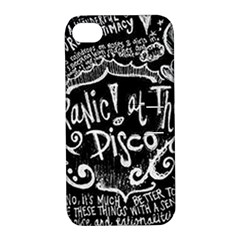 Panic ! At The Disco Lyric Quotes Apple iPhone 4/4S Hardshell Case with Stand