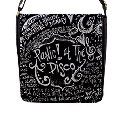 Panic ! At The Disco Lyric Quotes Flap Messenger Bag (L)