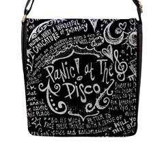 Panic ! At The Disco Lyric Quotes Flap Messenger Bag (l)
