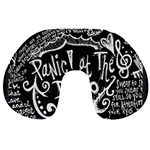 Panic ! At The Disco Lyric Quotes Travel Neck Pillows Back