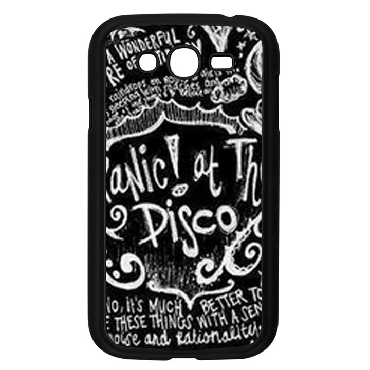 Panic ! At The Disco Lyric Quotes Samsung Galaxy Grand DUOS I9082 Case (Black)