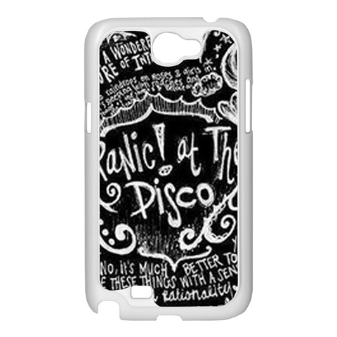 Panic ! At The Disco Lyric Quotes Samsung Galaxy Note 2 Case (White)
