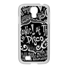 Panic ! At The Disco Lyric Quotes Samsung Galaxy S4 I9500/ I9505 Case (white)