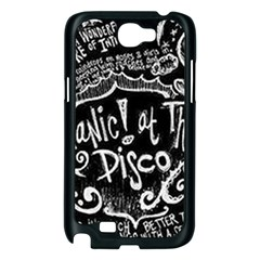 Panic ! At The Disco Lyric Quotes Samsung Galaxy Note 2 Case (Black)
