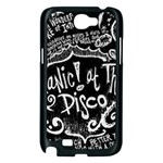 Panic ! At The Disco Lyric Quotes Samsung Galaxy Note 2 Case (Black) Front