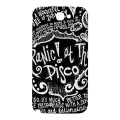 Panic ! At The Disco Lyric Quotes Samsung Note 2 N7100 Hardshell Back Case