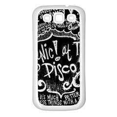 Panic ! At The Disco Lyric Quotes Samsung Galaxy S3 Back Case (White)