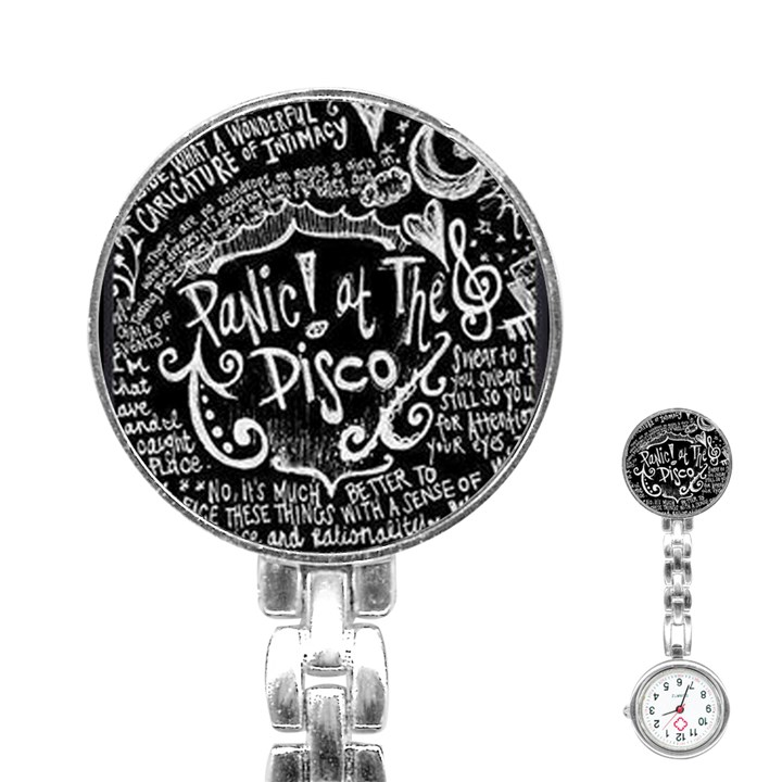 Panic ! At The Disco Lyric Quotes Stainless Steel Nurses Watch