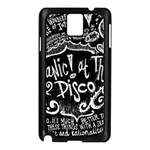 Panic ! At The Disco Lyric Quotes Samsung Galaxy Note 3 N9005 Case (Black) Front