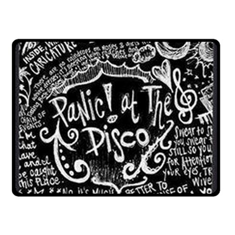 Panic ! At The Disco Lyric Quotes Double Sided Fleece Blanket (Small)