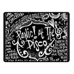 Panic ! At The Disco Lyric Quotes Double Sided Fleece Blanket (Small)  50 x40 Blanket Back