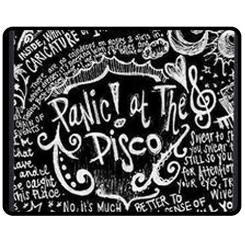 Panic ! At The Disco Lyric Quotes Double Sided Fleece Blanket (Medium)