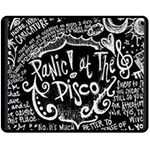 Panic ! At The Disco Lyric Quotes Double Sided Fleece Blanket (Medium)  60 x50 Blanket Back