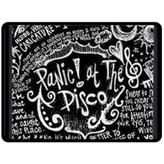 Panic ! At The Disco Lyric Quotes Double Sided Fleece Blanket (large)