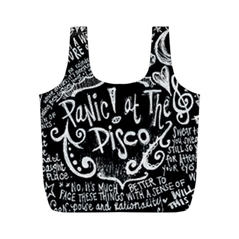 Panic ! At The Disco Lyric Quotes Full Print Recycle Bags (M)