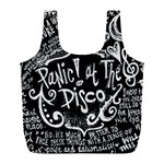 Panic ! At The Disco Lyric Quotes Full Print Recycle Bags (L)  Front