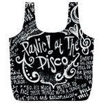 Panic ! At The Disco Lyric Quotes Full Print Recycle Bags (L)  Back