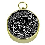 Panic ! At The Disco Lyric Quotes Gold Compasses Front