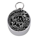 Panic ! At The Disco Lyric Quotes Mini Silver Compasses Front