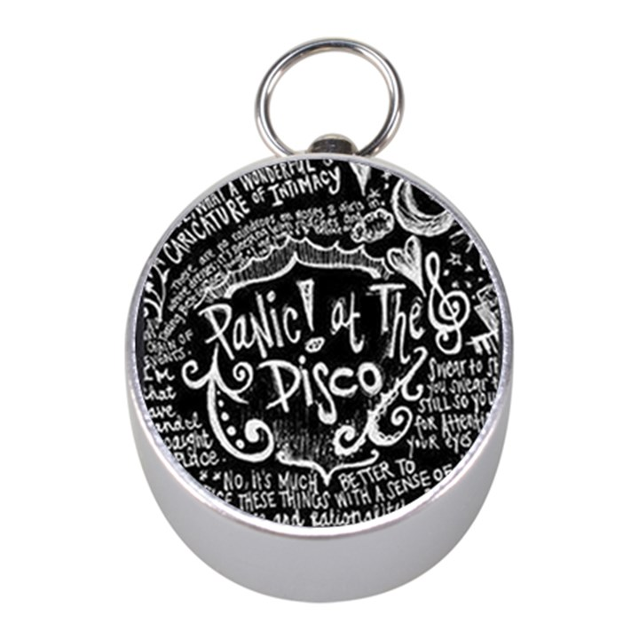 Panic ! At The Disco Lyric Quotes Mini Silver Compasses