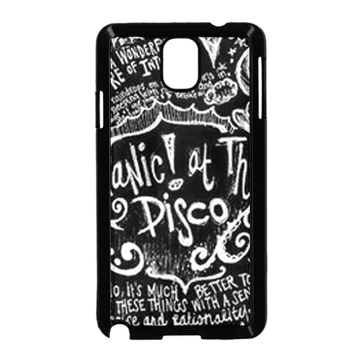 Panic ! At The Disco Lyric Quotes Samsung Galaxy Note 3 Neo Hardshell Case (Black)