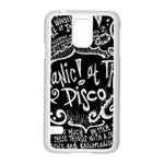 Panic ! At The Disco Lyric Quotes Samsung Galaxy S5 Case (White) Front